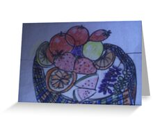 A tasty basket of fruit Greeting Card