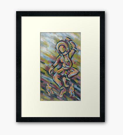 The celestial nymph (The Dancer) Framed Print