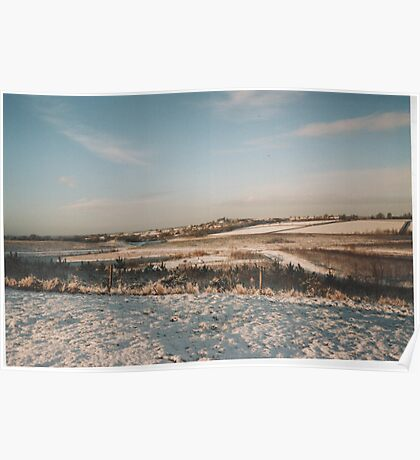 Wintertime  in a Leicestershire country park Poster