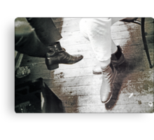 boots backstage Canvas Print