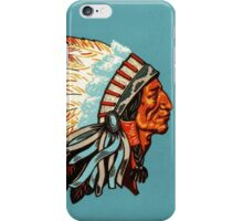 American Indian Chief Profile iPhone Case/Skin