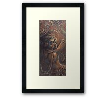 The celestial nymph (The Fire Dance) Framed Print