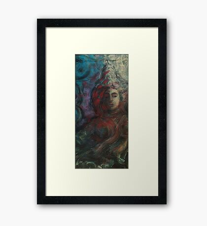The celestial nymph (Dreaming in Clouds) Framed Print