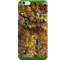 Mallorn leaves in Lothlorien - one for LOTR followers iPhone Case/Skin