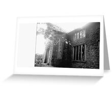 An abandoned old house in Bolton Lancs Greeting Card