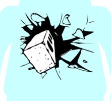 Minifig with Smashing Window Sticker