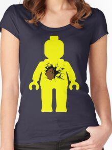 Minifig with Smashing Window Women's Fitted Scoop T-Shirt
