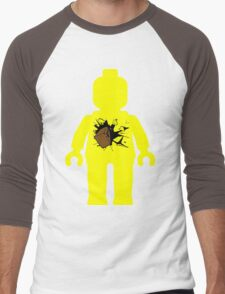 Minifig with Smashing Window Men's Baseball ¾ T-Shirt
