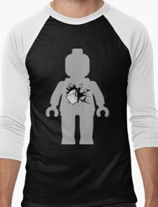 Minifig with Smashing Window Men's Baseball ¾ T-Shirt