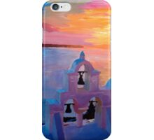 Santorini Greece View from Oia during Sunset  iPhone Case/Skin