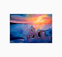 Santorini Greece View from Oia during Sunset  Unisex T-Shirt