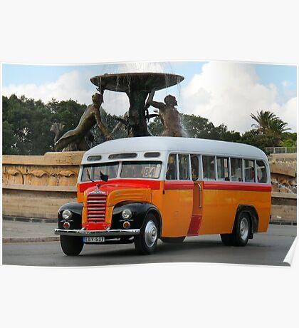 Malta Bus Poster