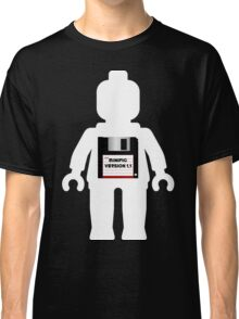 """White Minifig with """"MINIFIG VERSION 1.1"""" Classic T-Shirt"""