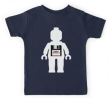 """White Minifig with """"MINIFIG VERSION 1.1"""" Kids Tee"""