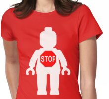 Minifig with Stop Sign Womens Fitted T-Shirt