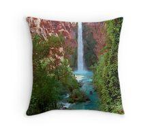 Moony Falls and Tree Throw Pillow