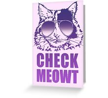 One Cool Cat Greeting Card
