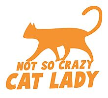 Not so CRAZY cat lady! Photographic Print