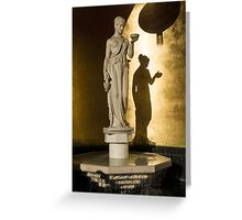 The Goddess and Her Shadow Greeting Card