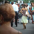 Walking Away, Union Square Farmer's Market, New York by APhillips