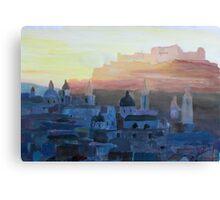 Salzburg Austria at Dusk Canvas Print