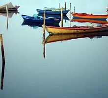 fishing boats in Mesolonghi by Cornelia Togea