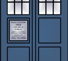 Doctor Who Tardis doors Sticker