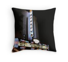 The Warner Theater Throw Pillow