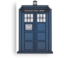 Doctor Who Tardis doors Canvas Print