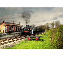 About to leave Bodiam Station  Photographic Print