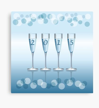 Champagne toast cups Canvas Print