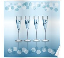 Champagne toast cups Poster