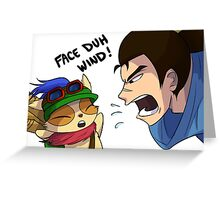 Teemo and Yasuo League of Legends Greeting Card