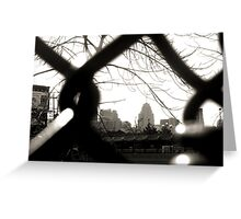 The Fence that Framed Detroit  Greeting Card