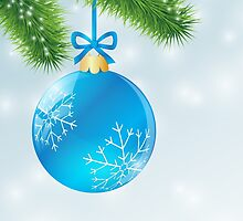 Christmas Blue Ball by enlife