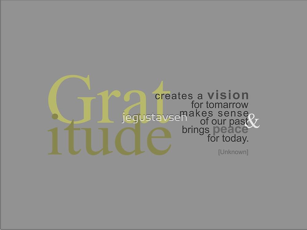 Gratitude by jegustavsen
