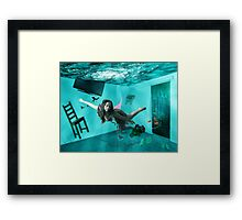 Life as lived from a Goldfish Bowl Framed Print
