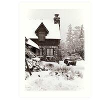Mt. Baldy Cabin in a Snowstorm Art Print
