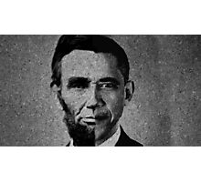 Impressionist Interpretation of Lincoln Becoming Obama Photographic Print