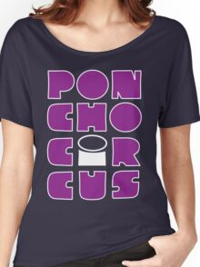 Poncho Circus - Block Purple Women's Relaxed Fit T-Shirt