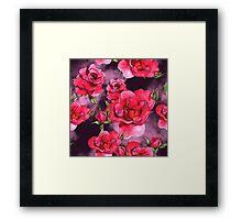Floral watercolor pattern Framed Print