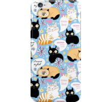pattern of funny cats  iPhone Case/Skin
