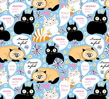 pattern of funny cats  by Tanor