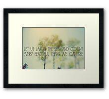 Lay In The Sun Framed Print