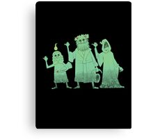 Hitch-hiking Christmas Ghosts Canvas Print