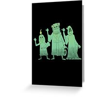 Hitch-hiking Christmas Ghosts Greeting Card