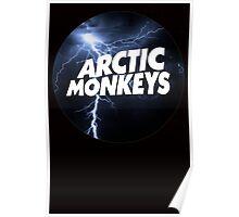 Arctic Monkeys Logo Circle Crying Lightning Dark Poster