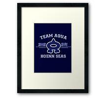Team Aqua Framed Print