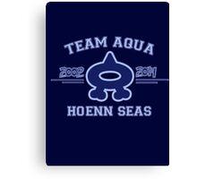 Team Aqua Canvas Print