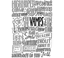 the vamps collage Photographic Print